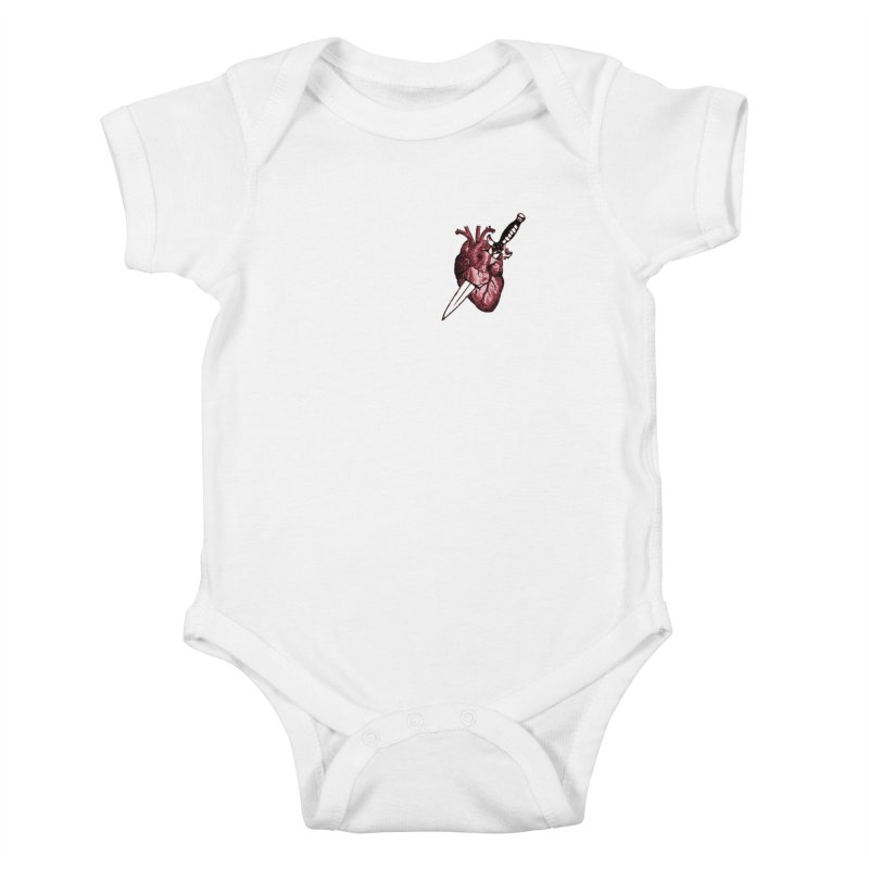 A Dagger to the Heart Kids Baby Bodysuit by Green Grackle Studio