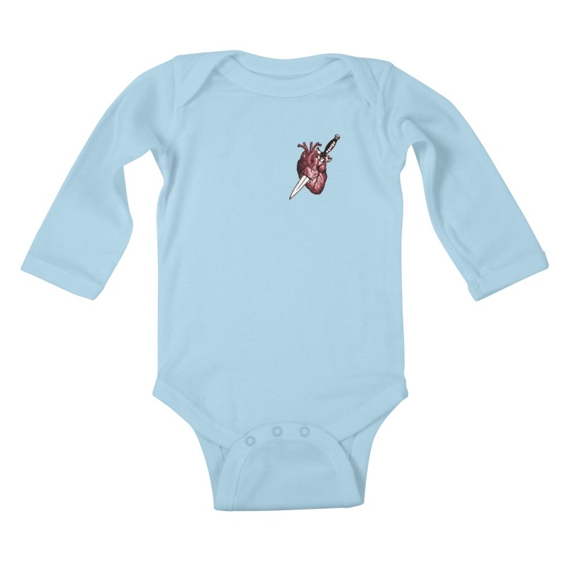 A Dagger to the Heart Kids Baby Longsleeve Bodysuit by Green Grackle Studio