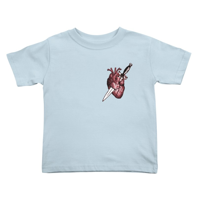 A Dagger to the Heart Kids Toddler T-Shirt by Green Grackle Studio