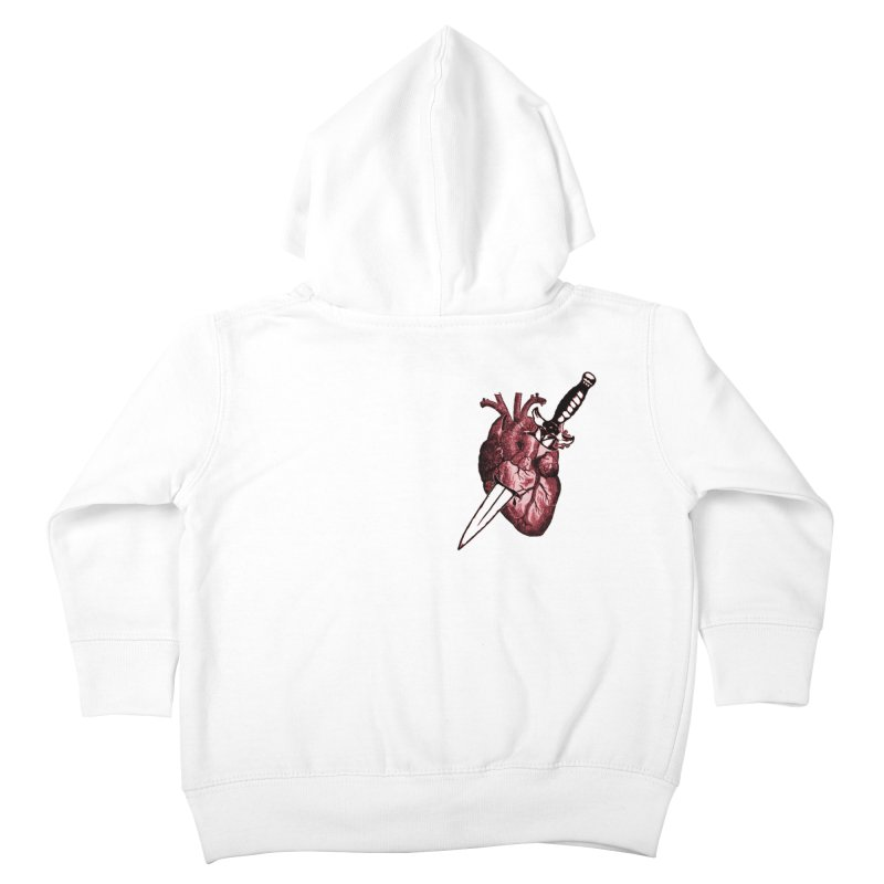 A Dagger to the Heart Kids Toddler Zip-Up Hoody by Green Grackle Studio