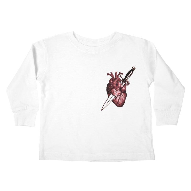 A Dagger to the Heart Kids Toddler Longsleeve T-Shirt by Green Grackle Studio