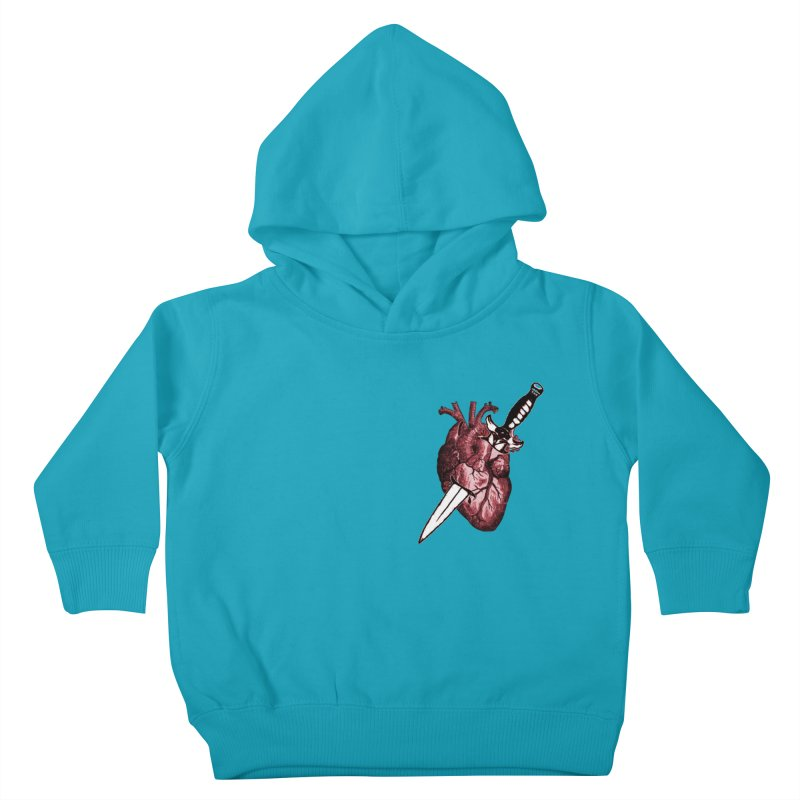 A Dagger to the Heart Kids Toddler Pullover Hoody by Green Grackle Studio