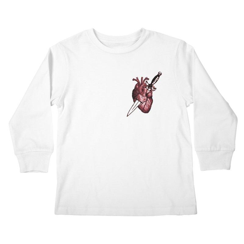 A Dagger to the Heart Kids Longsleeve T-Shirt by Green Grackle Studio