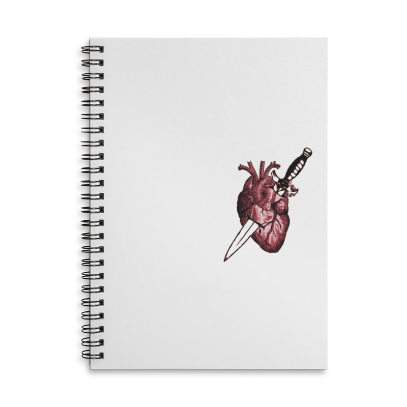 A Dagger to the Heart Accessories Notebook by Green Grackle Studio