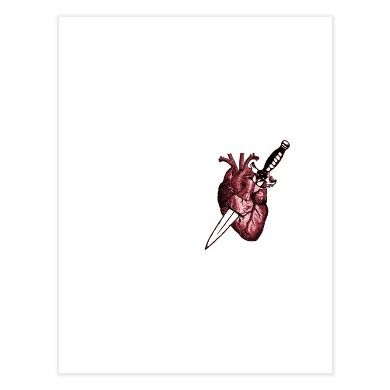A Dagger to the Heart Home Fine Art Print by Green Grackle Studio