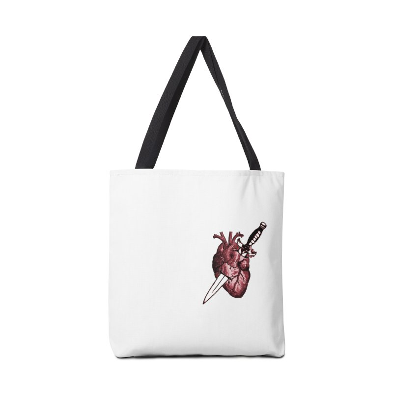 A Dagger to the Heart Accessories Tote Bag Bag by Green Grackle Studio