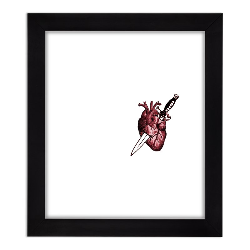 A Dagger to the Heart Home Framed Fine Art Print by Green Grackle Studio