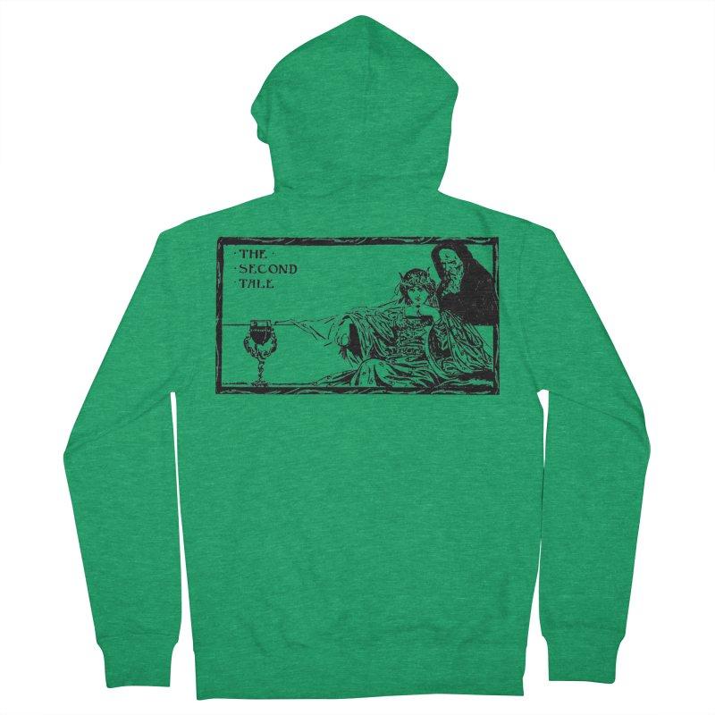The Second Tale Men's Zip-Up Hoody by Green Grackle Studio