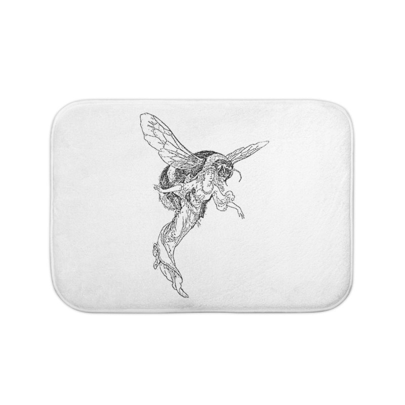 The Princess Carried Off By Bees Home Bath Mat by Green Grackle Studio