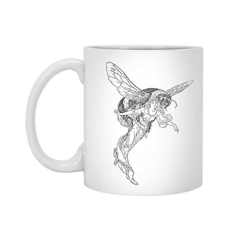 The Princess Carried Off By Bees Accessories Standard Mug by Green Grackle Studio
