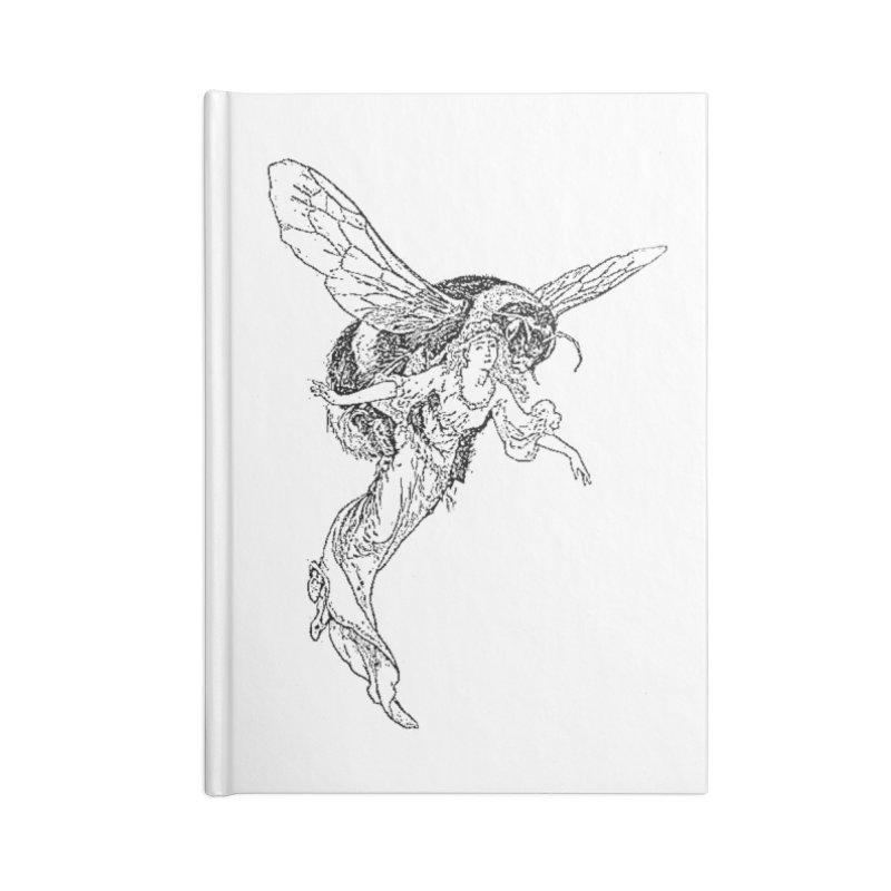 The Princess Carried Off By Bees Accessories Lined Journal Notebook by Green Grackle Studio