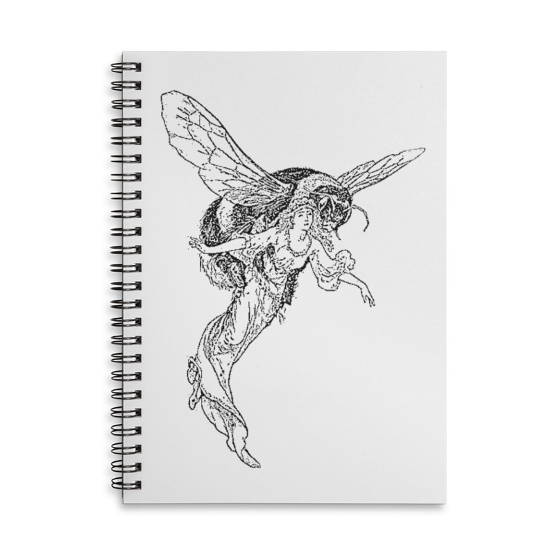 The Princess Carried Off By Bees Accessories Lined Spiral Notebook by Green Grackle Studio