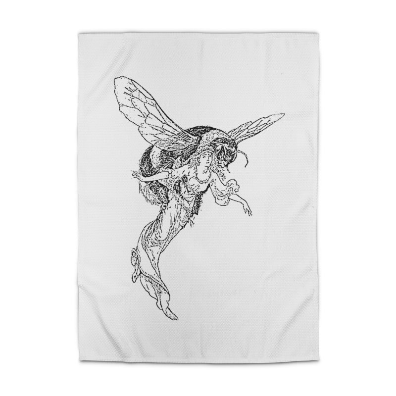 The Princess Carried Off By Bees Home Rug by Green Grackle Studio