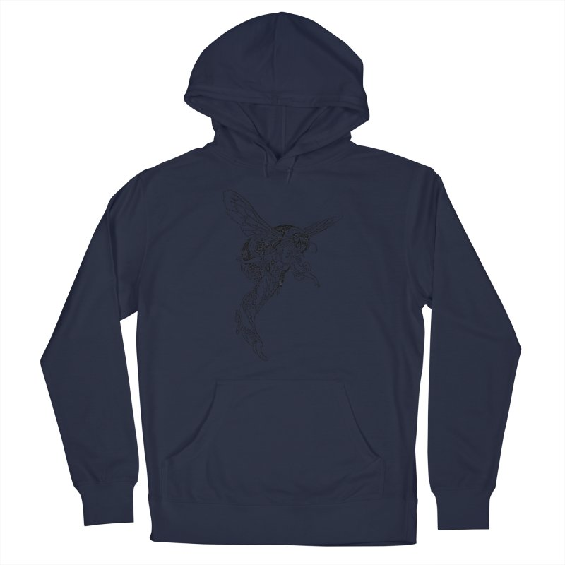 The Princess Carried Off By Bees Men's Pullover Hoody by Green Grackle Studio