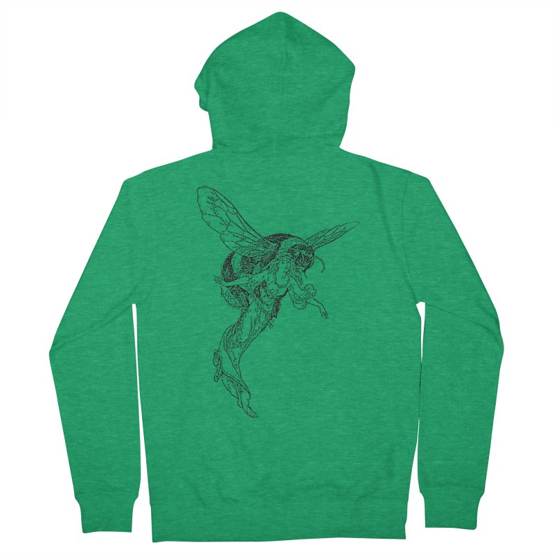 The Princess Carried Off By Bees Men's Zip-Up Hoody by Green Grackle Studio