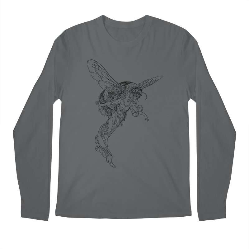 The Princess Carried Off By Bees Men's Longsleeve T-Shirt by Green Grackle Studio