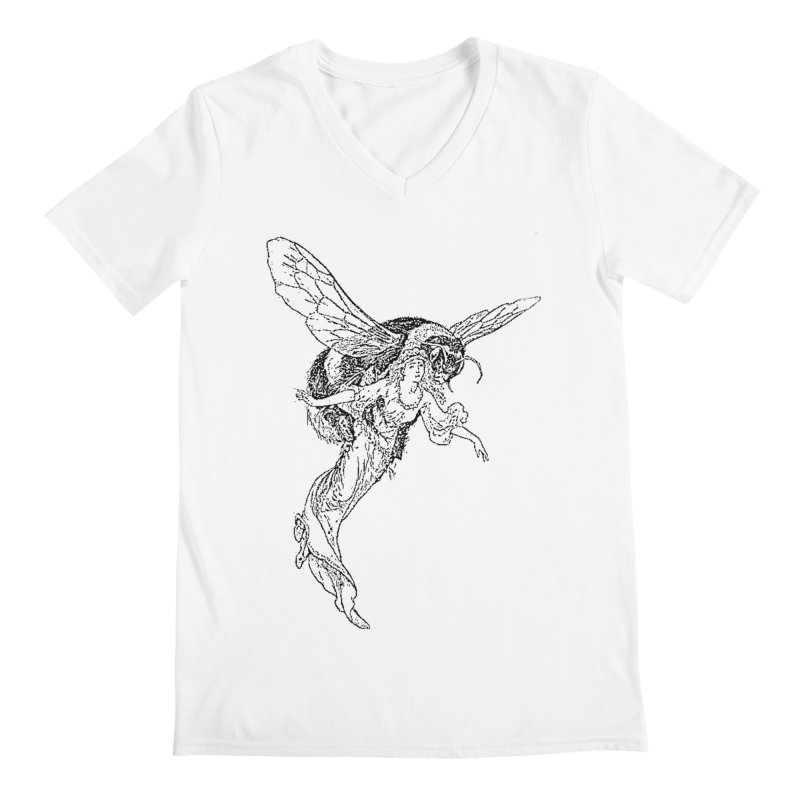 The Princess Carried Off By Bees Men's V-Neck by Green Grackle Studio