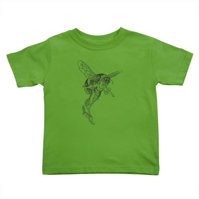 The Princess Carried Off By Bees Kids Toddler T-Shirt by Green Grackle Studio
