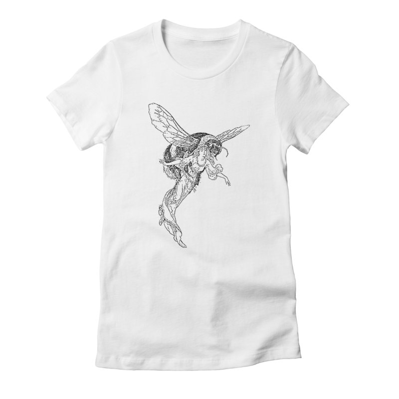 The Princess Carried Off By Bees Women's T-Shirt by Green Grackle Studio