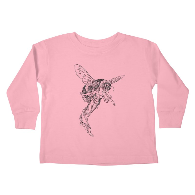 The Princess Carried Off By Bees Kids Toddler Longsleeve T-Shirt by Green Grackle Studio