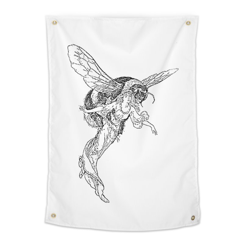 The Princess Carried Off By Bees Home Tapestry by Green Grackle Studio