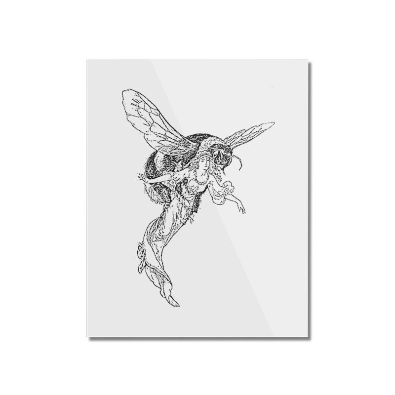 The Princess Carried Off By Bees Home Mounted Acrylic Print by Green Grackle Studio