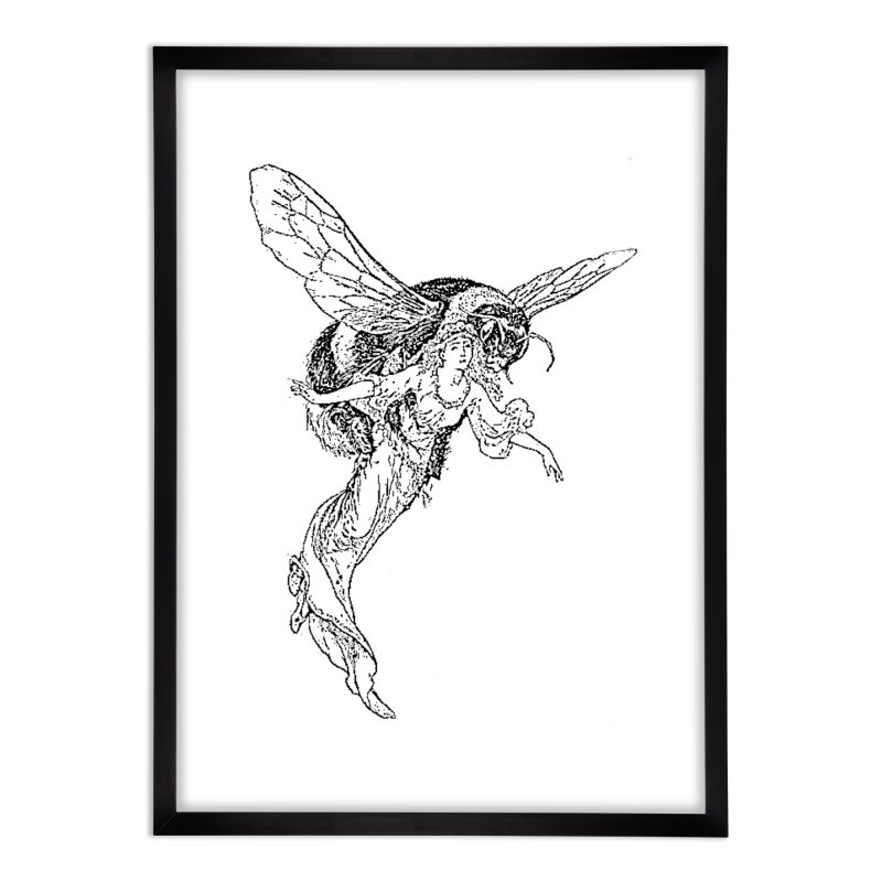 The Princess Carried Off By Bees Home Framed Fine Art Print by Green Grackle Studio