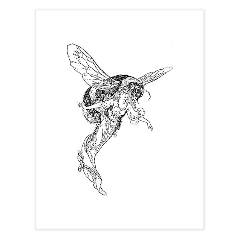 The Princess Carried Off By Bees Home Fine Art Print by Green Grackle Studio