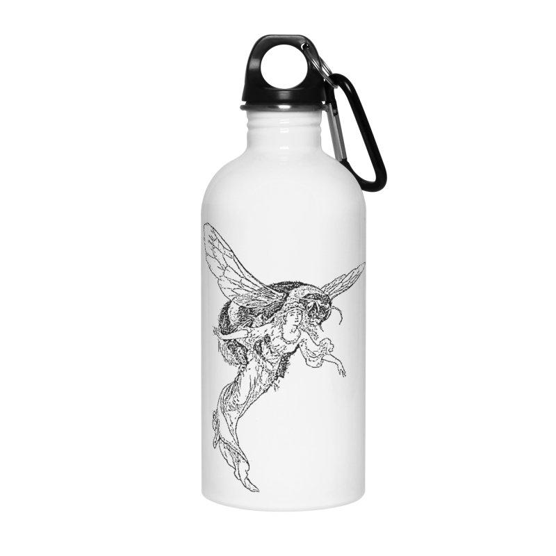 The Princess Carried Off By Bees Accessories Water Bottle by Green Grackle Studio