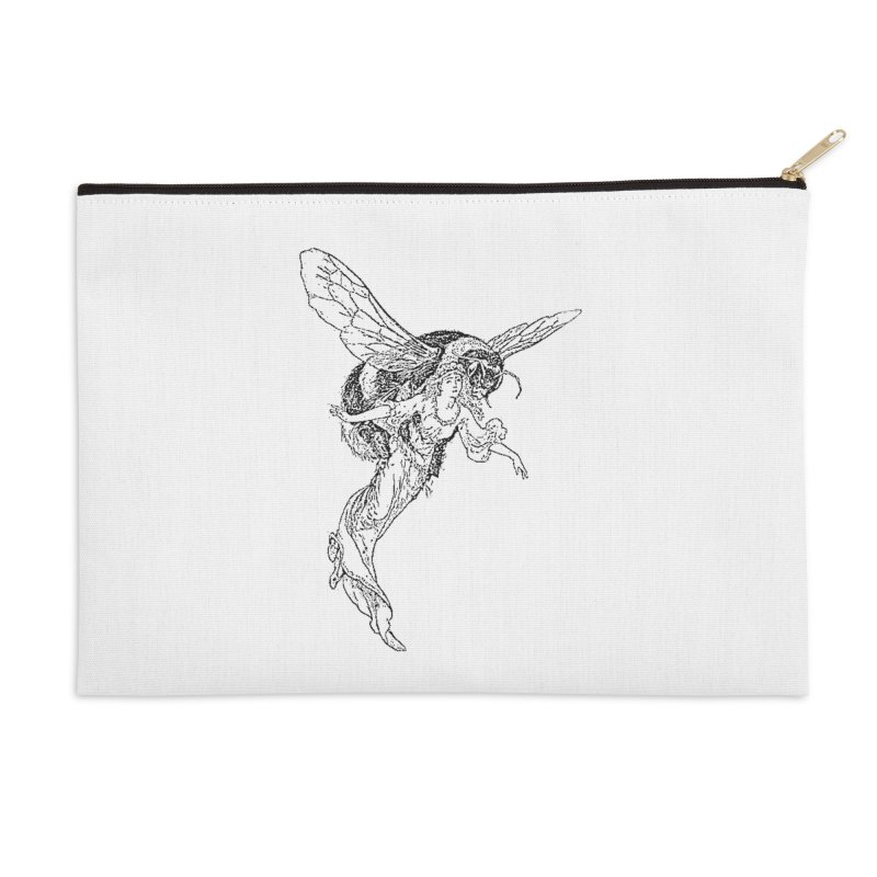 The Princess Carried Off By Bees Accessories Zip Pouch by Green Grackle Studio