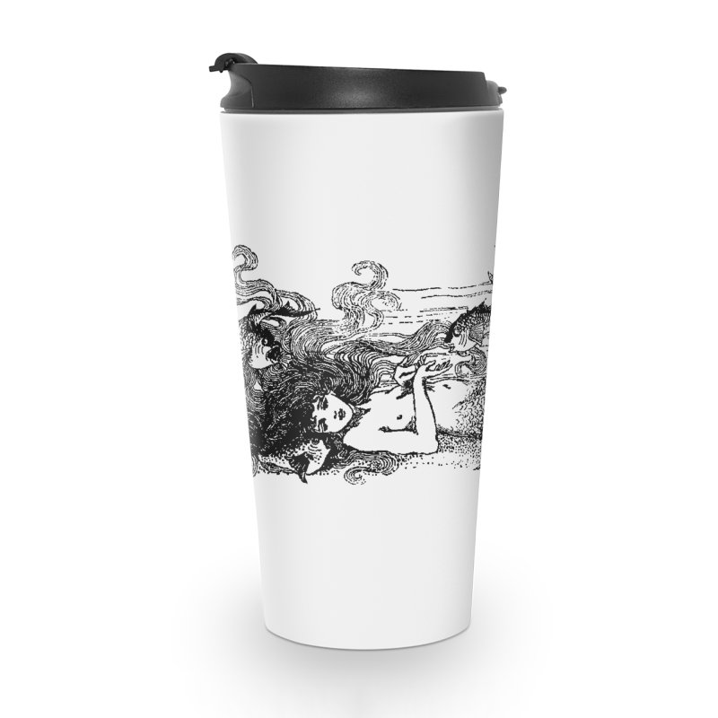 The Little Mermaid Accessories Travel Mug by Green Grackle Studio