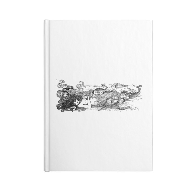 The Little Mermaid Accessories Notebook by Green Grackle Studio