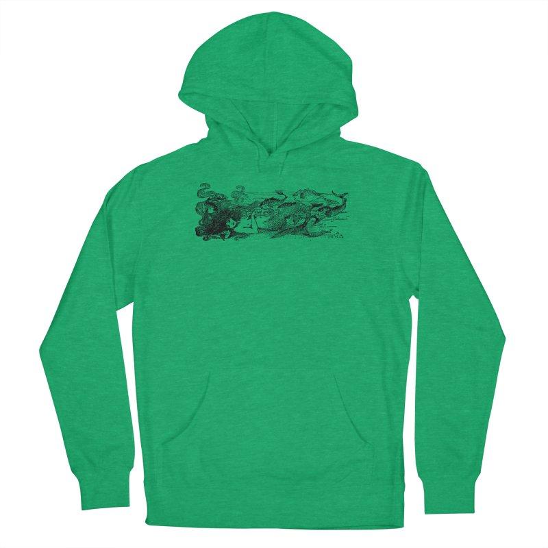 The Little Mermaid Men's Pullover Hoody by Green Grackle Studio