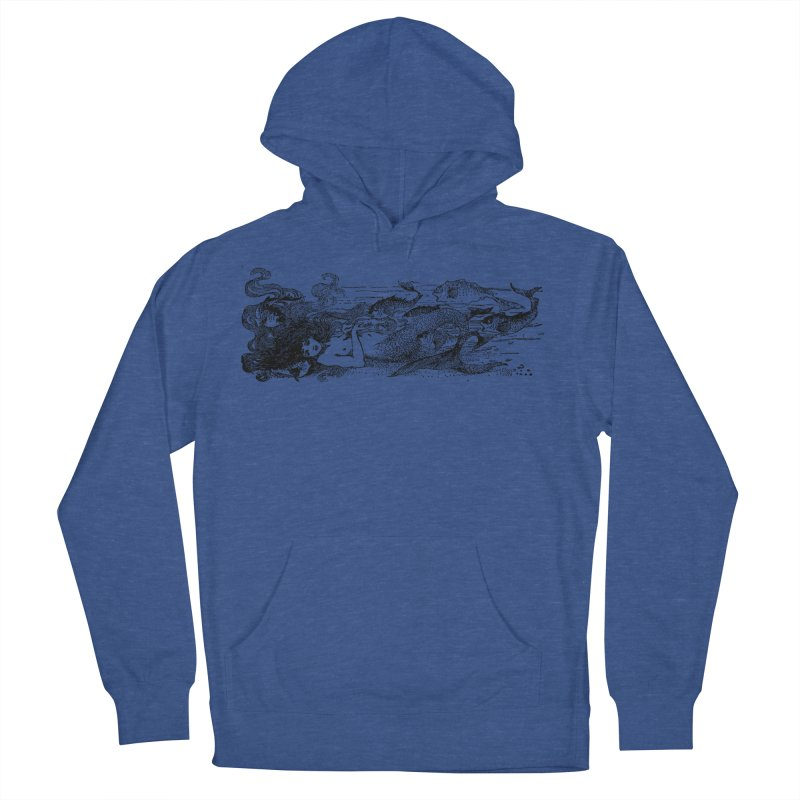 The Little Mermaid Men's French Terry Pullover Hoody by Green Grackle Studio