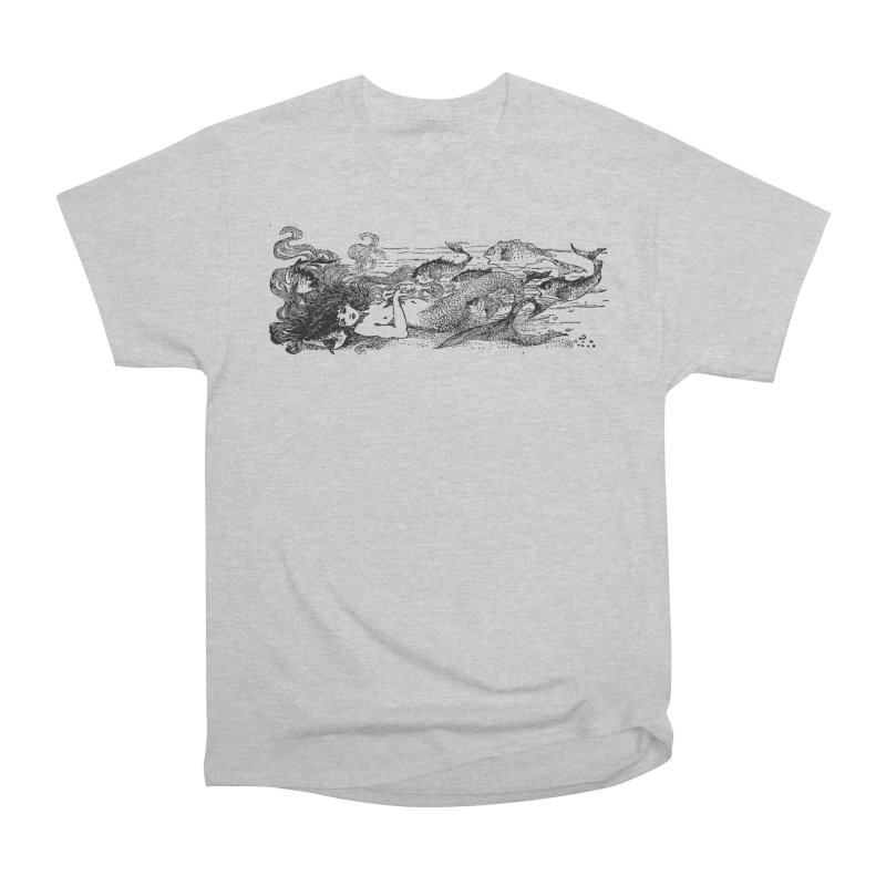 The Little Mermaid Men's Heavyweight T-Shirt by Green Grackle Studio
