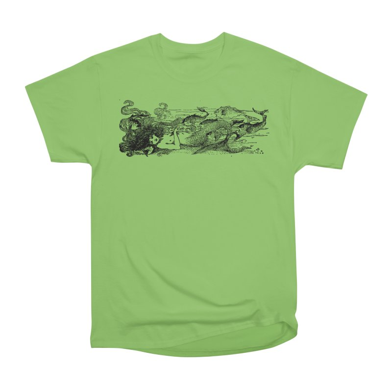 The Little Mermaid Men's Heavyweight T-Shirt by Green Grackle Studio