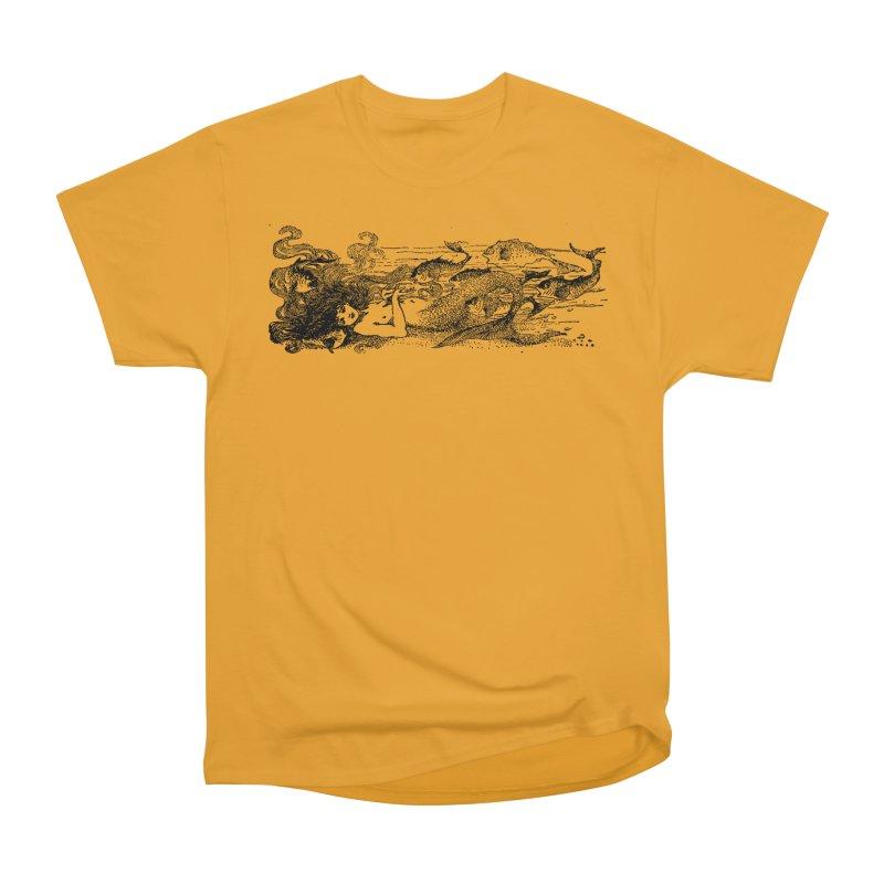The Little Mermaid Women's Heavyweight Unisex T-Shirt by Green Grackle Studio