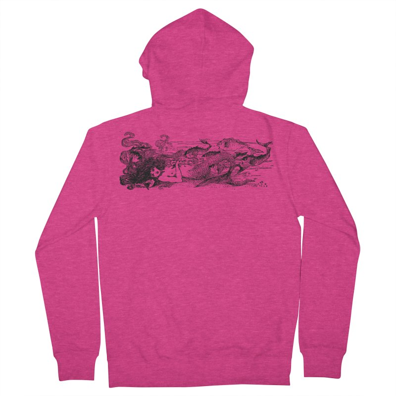 The Little Mermaid Women's French Terry Zip-Up Hoody by Green Grackle Studio
