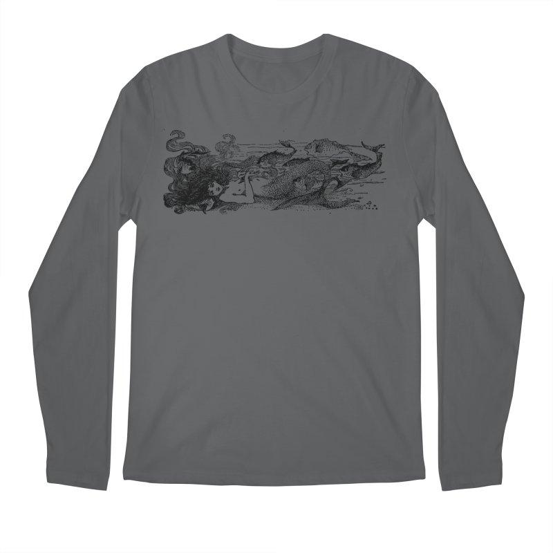 The Little Mermaid Men's Longsleeve T-Shirt by Green Grackle Studio