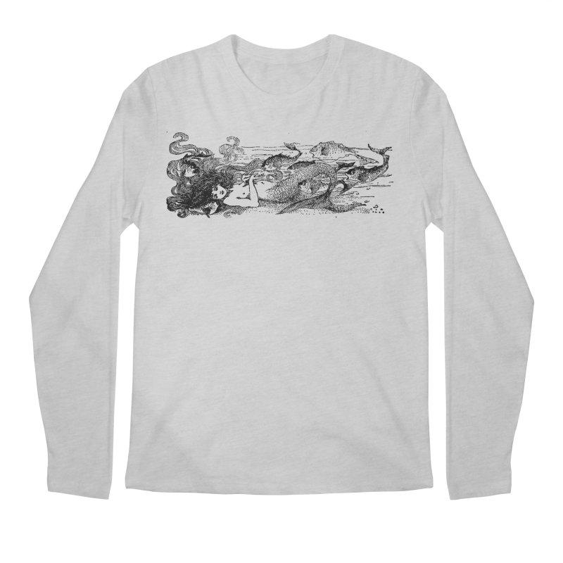 The Little Mermaid Men's Regular Longsleeve T-Shirt by Green Grackle Studio