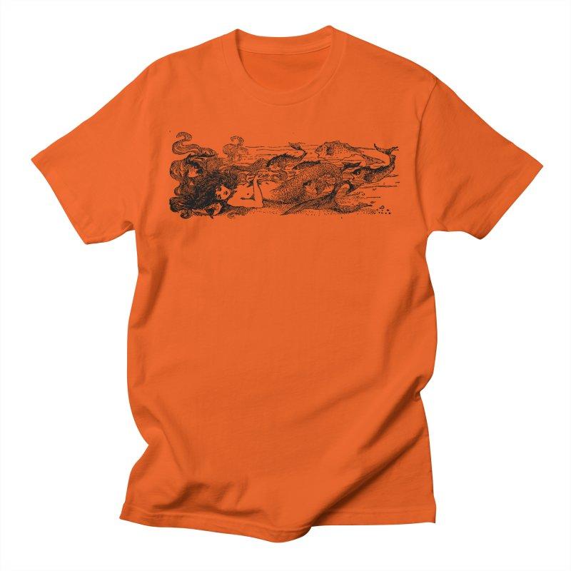 The Little Mermaid Women's Regular Unisex T-Shirt by Green Grackle Studio