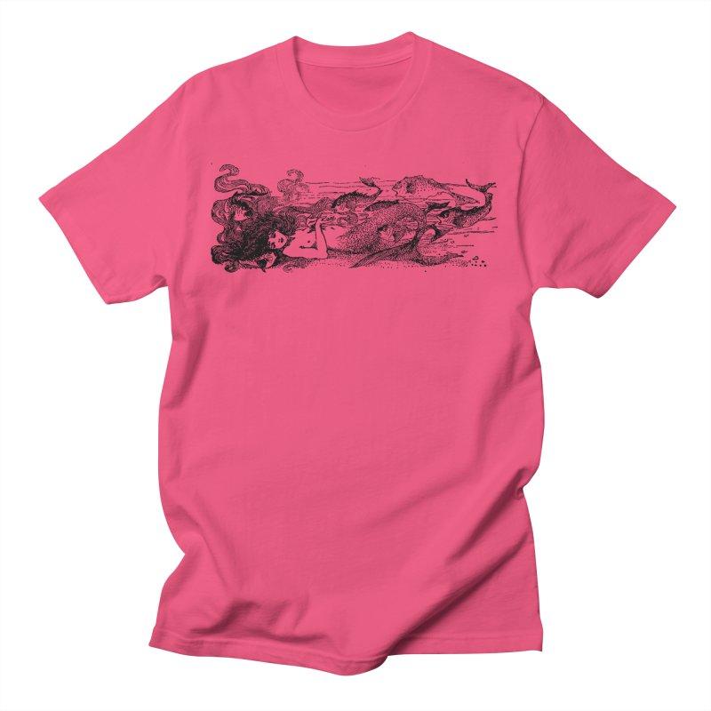 The Little Mermaid Men's Regular T-Shirt by Green Grackle Studio