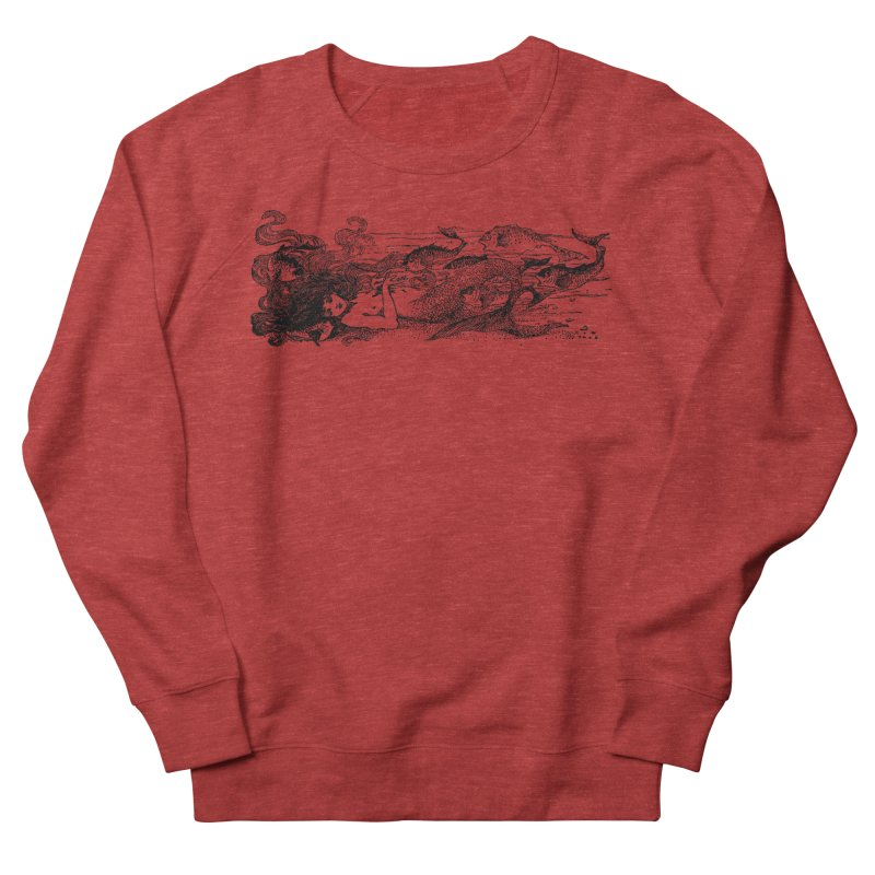 The Little Mermaid Women's French Terry Sweatshirt by Green Grackle Studio