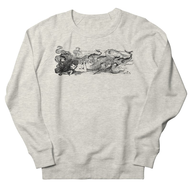The Little Mermaid Men's French Terry Sweatshirt by Green Grackle Studio