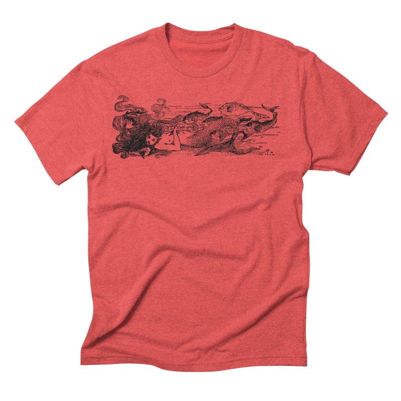 The Little Mermaid Men's Triblend T-Shirt by Green Grackle Studio