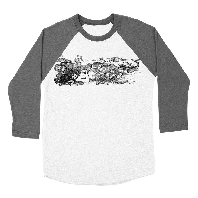 The Little Mermaid Men's Baseball Triblend Longsleeve T-Shirt by Green Grackle Studio