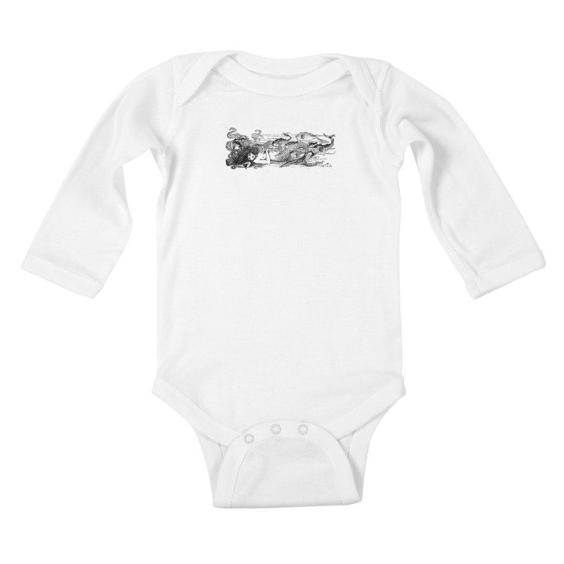 The Little Mermaid Kids Baby Longsleeve Bodysuit by Green Grackle Studio
