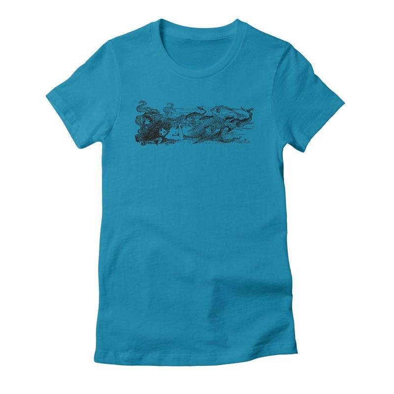 The Little Mermaid Women's T-Shirt by Green Grackle Studio