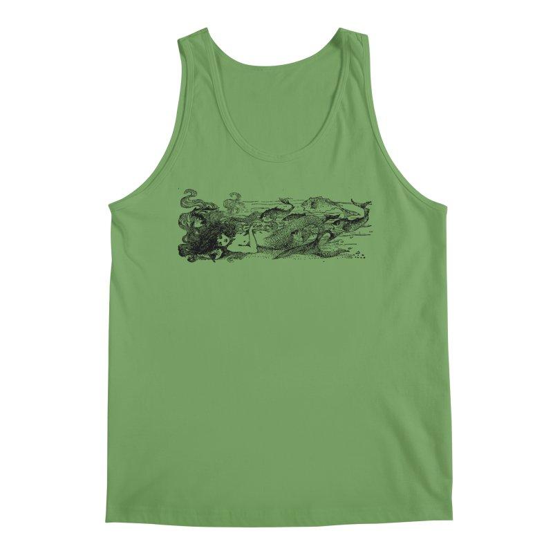 The Little Mermaid Men's Tank by Green Grackle Studio