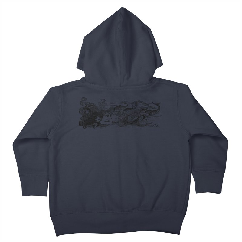 The Little Mermaid Kids Toddler Zip-Up Hoody by Green Grackle Studio